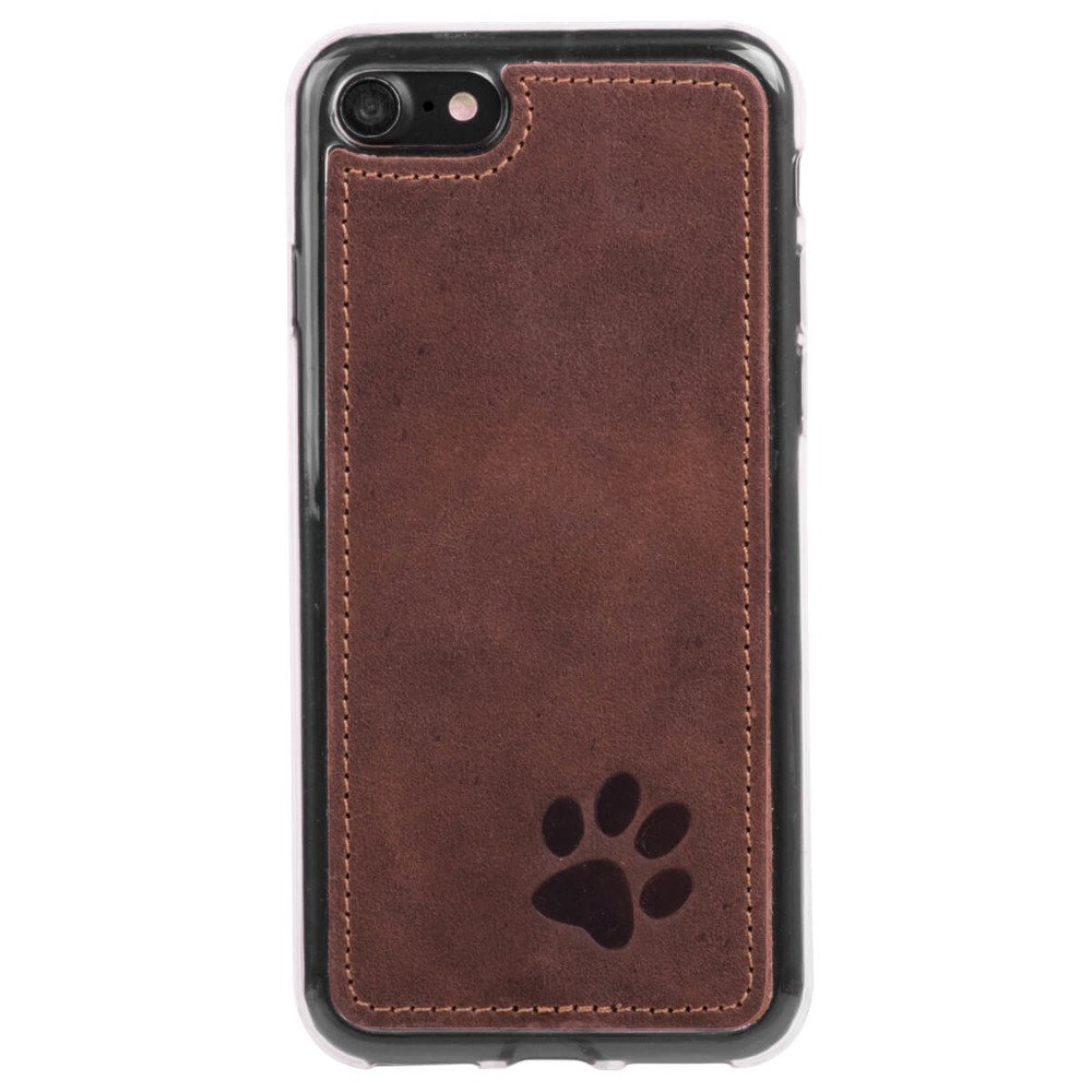 Surazo Back case phone case Nubuck - Nut brown - Paw