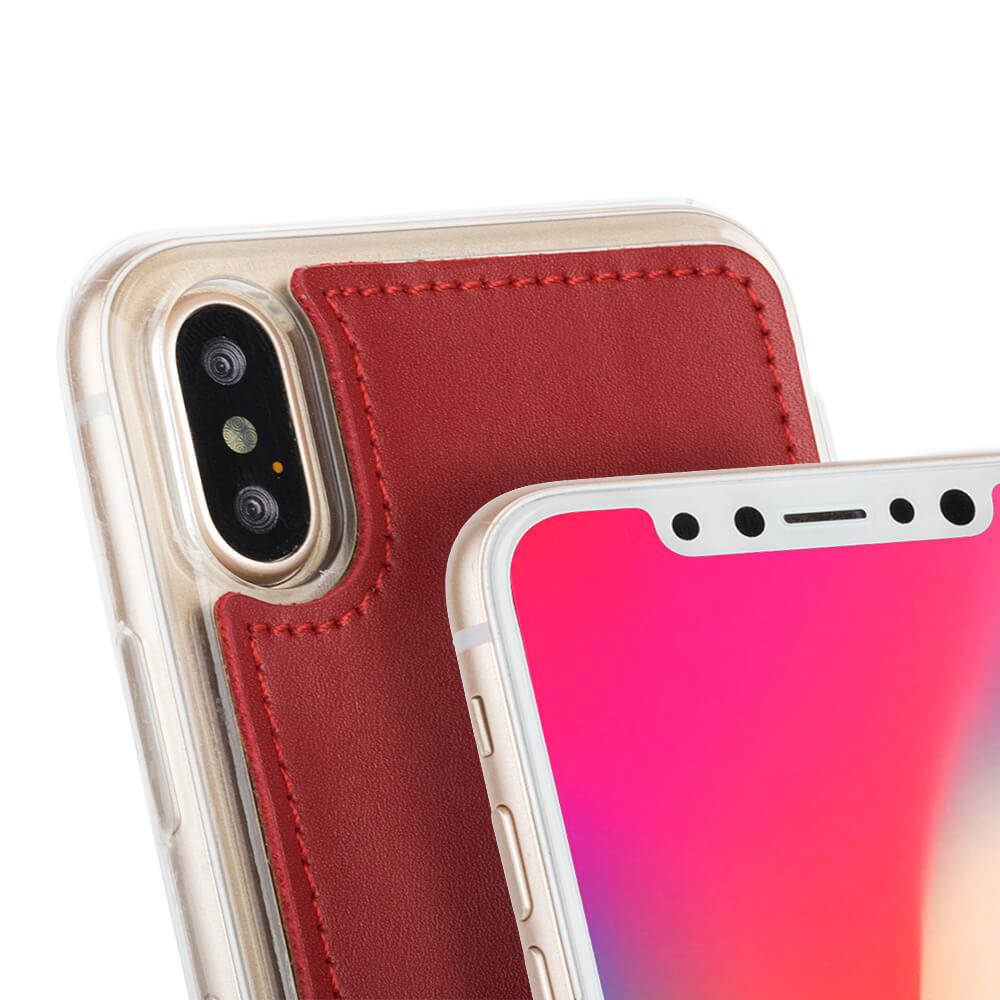 Surazo® Back case phone case Prestige Red - Black Hearts