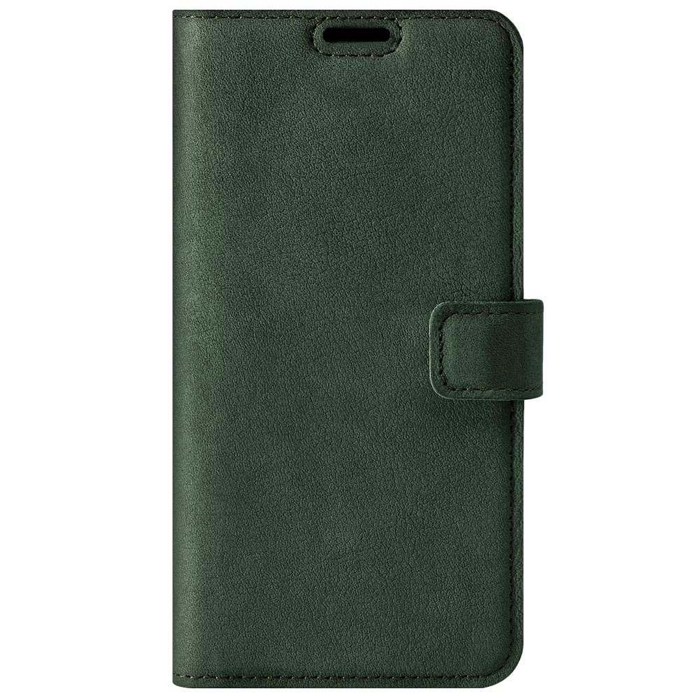 Surazo® Leather Wallet phone case Nubuck - Dark Green