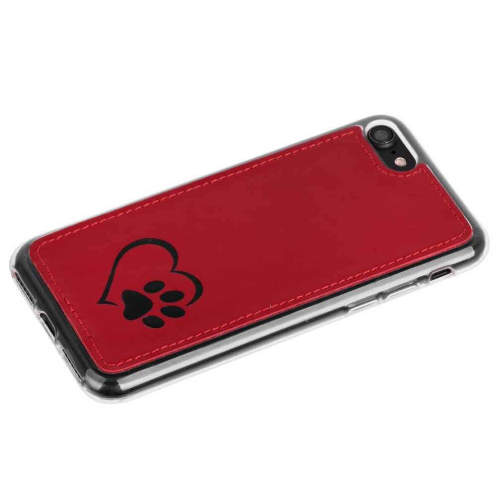 Surazo® Back case phone case Costa - Red - Heart and paw