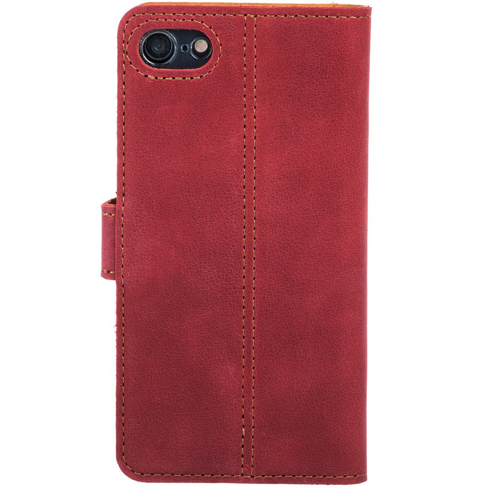 Surazo® Leather Wallet phone case Nubuck - Red