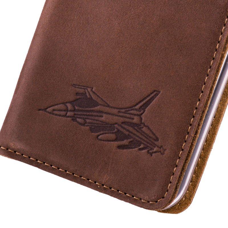 Surazo® Smart Magnet RFID case Nubuck - Nut brown - Jet