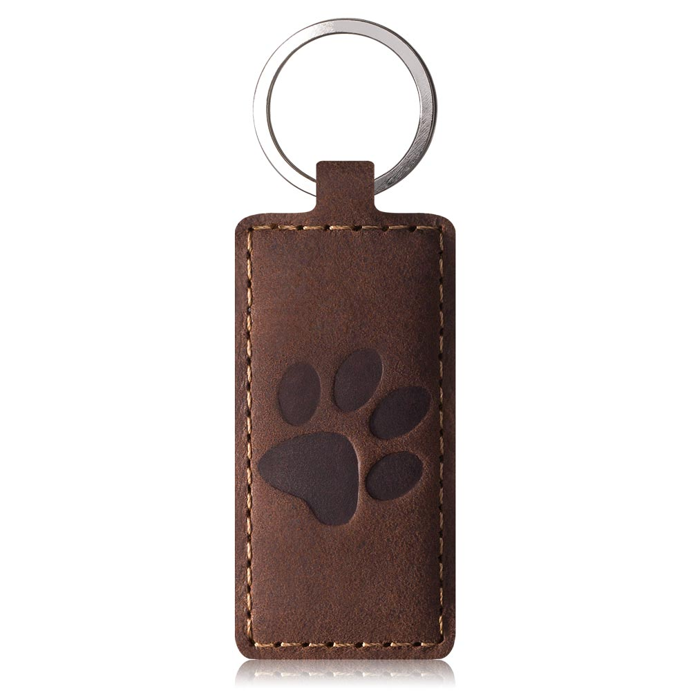 Surazo Slim cover CC phone case Nubuck - Nut brown - Paw