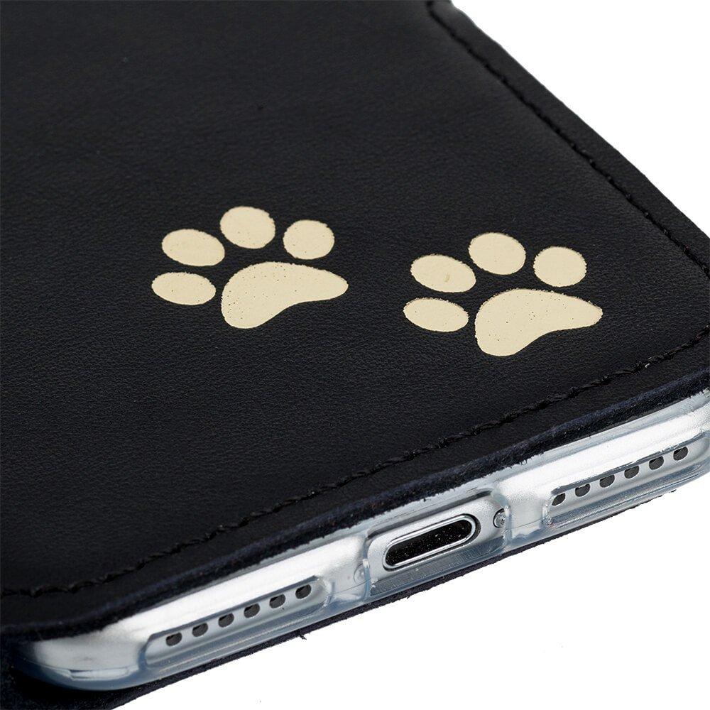 Surazo® Slim cover phone case Dakota - Black - Two paws