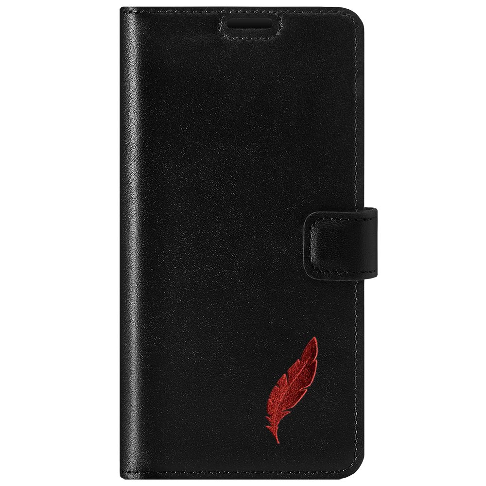 Wallet case - Costa Black - Red Feather