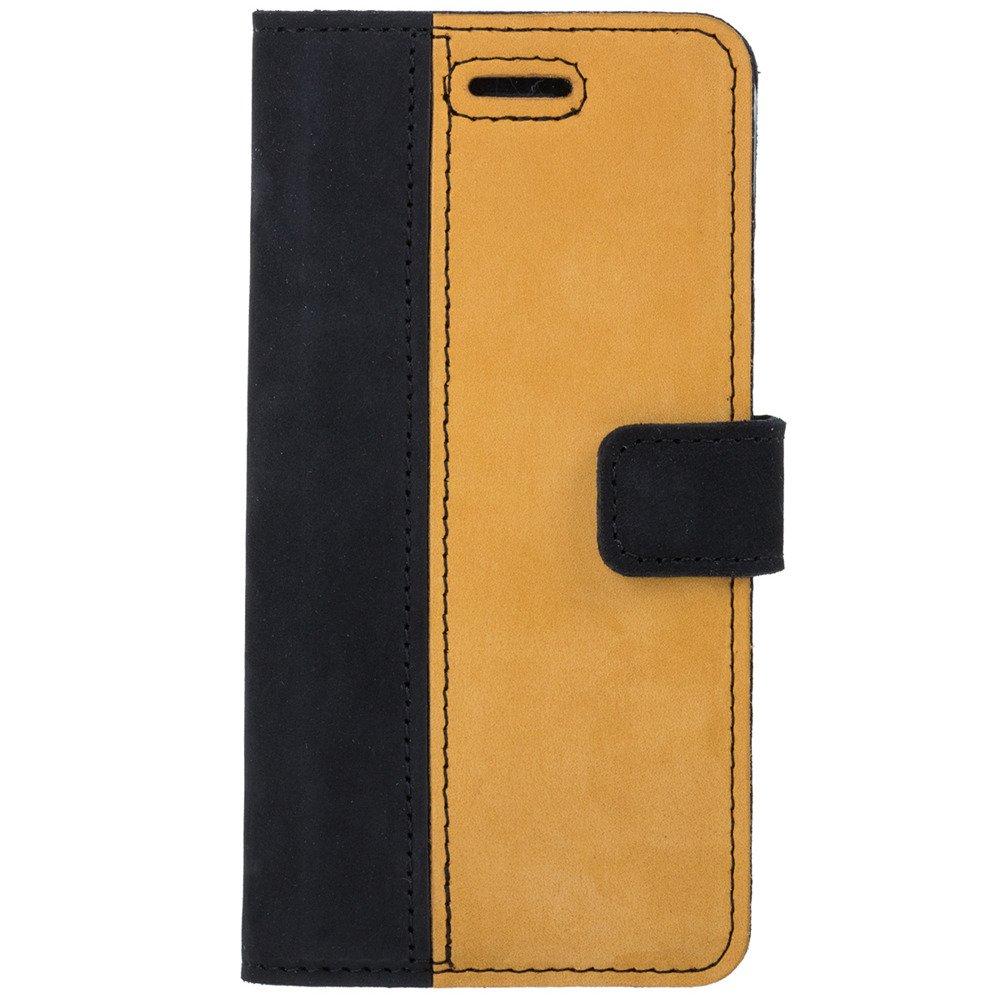 Wallet case - Nubuck Black and Camel