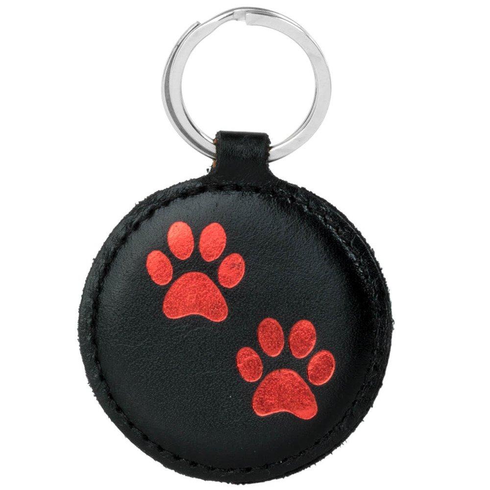 Surazo® Smart Magnet RFID Lederhülle - Costa Schwarz -Doppelt Pfote Rot