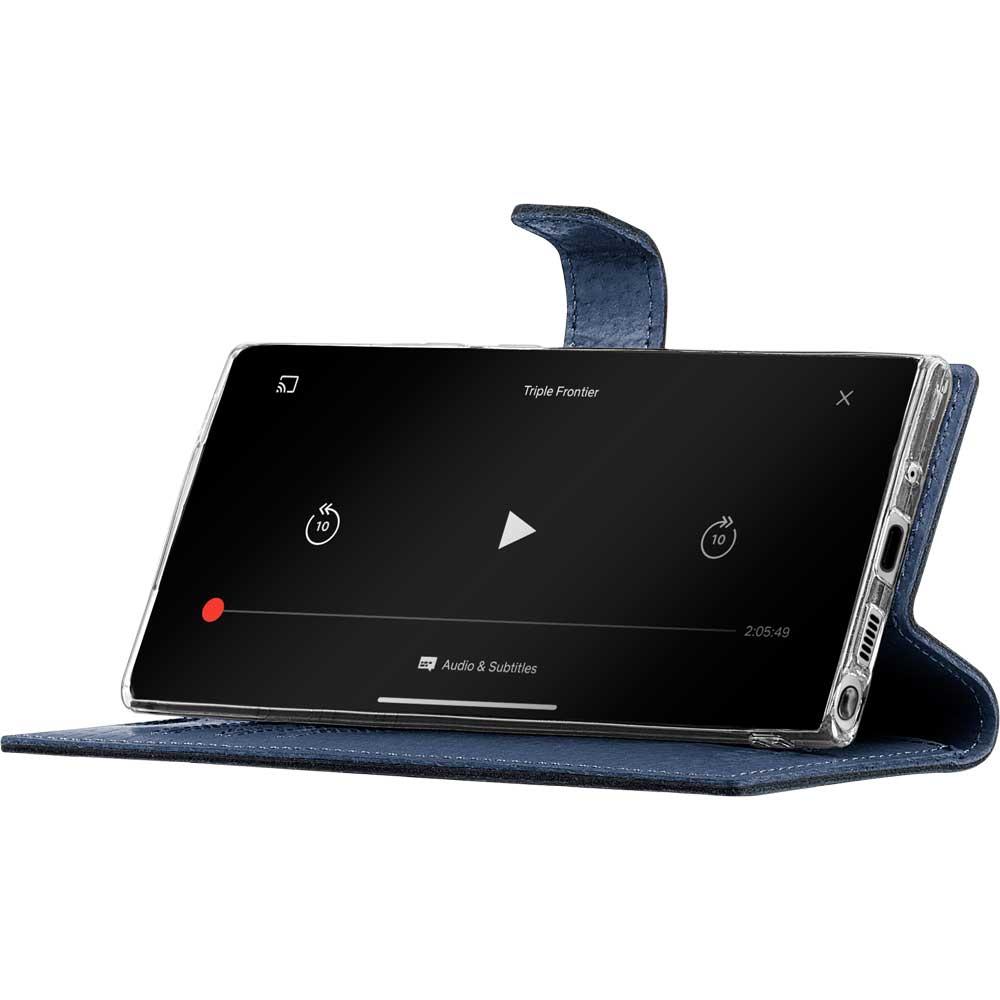 Surazo® Wallet Handy Lederhülle - Costa Schwarz -  Feder Unendlich