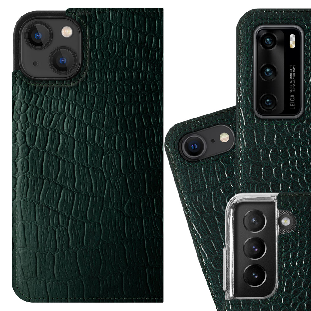 Surazo® Smart Magnet RFID Lederhülle Cayme - Grün