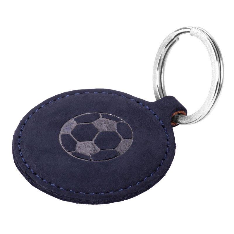 Surazo® Smart Magnet RFID Lederhülle - Nubuk Marineblau - Fußball