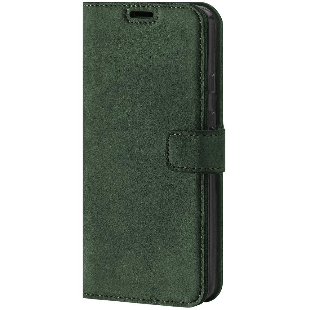 Wallet case - Nubuk Dunkelgrün