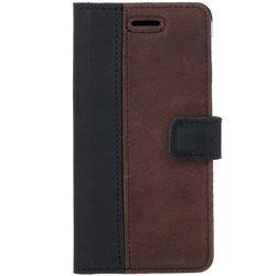 Wallet case - Nubuk Schwarz und Nussbraun