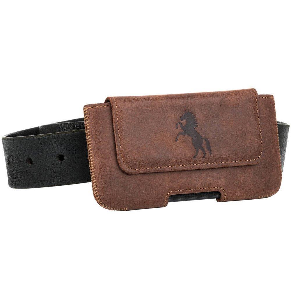 Belt case - Nubuk Orzechowy - Koń