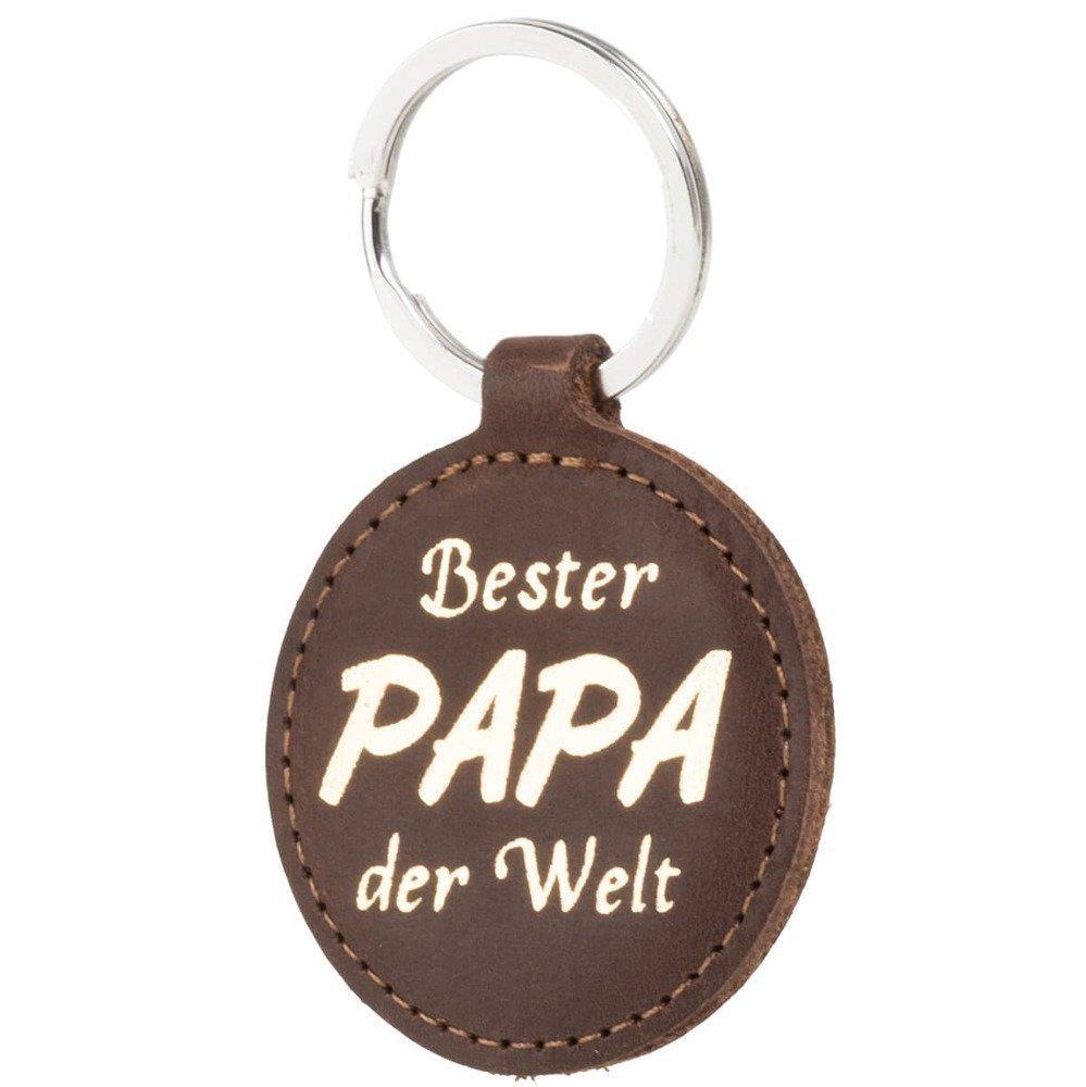Surazo® Skórzane Etui Belt case - Nubuk Orzechowy - Bester Papa